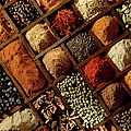 Various Spices, Close-up by Bp