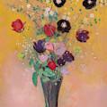 Vase Of Flowers, 1916, Pastel by Odilon Redon