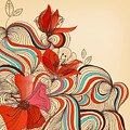 Vector Floral Background by Danussa