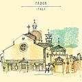 Vector Illustration Of Padua Cathedral by Babayuka