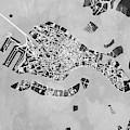 Venice Italy City Map by Michael Tompsett