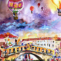 Venice Italy Rialto Bridge With Balloons by Ginette Callaway