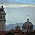 Venice Tower And Dome by John Hughes
