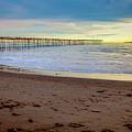 Ventura Pier And Channel Islands Sunset by David Millenheft