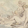 Venus Crowned By Cupid by Thomas Rowlandson