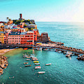 Vernazza Cinque Terre Italy - Dwp1721001 by Dean Wittle