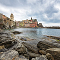 Vernazza Waterfront Cinque Terre Italy by Joan Carroll