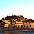 Verona At Sunset by Wendy Payne Travel Writer