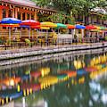 Vibrant Colors Of The San Antonio Riverwalk by Gregory Ballos