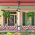 Victorian - Bevidere Nj - Pink And Patriotic by Mike Savad