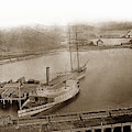 View At South Vallejo Steam Boat Landing With Side Wheeler Sacra by California Views Archives Mr Pat Hathaway Archives