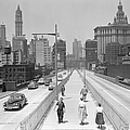 View From The Walkway Of The Brooklyn by New York Daily News Archive