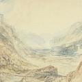 View In The St. Gotthard Pass, Switzerland by Joseph Mallord William Turner