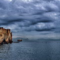View Of Castel Dell Ovo  by Peter Moderdovsky