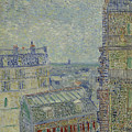 View Of Paris From Theos Apartment In The Rue Lepic, 1887  by Vincent Van Gogh