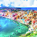 View Of Procida Italy by Dominic Piperata