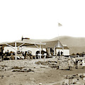 View Of The Fred Forbush Beachfront Santa Barbara First Bath House Circa 1880 by California Views Archives Mr Pat Hathaway Archives