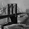 View Of The Brooklyn Bridge & The Skyscr by Andreas Feininger