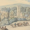 View Of The Church And Village Of St. Cue, Cornwall by Thomas Rowlandson