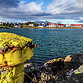 View Over Borgarnes From Brakarey, Iceland by Lyl Dil Creations