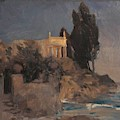 Villa By The Sea by Bocklin Arnold