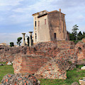 Villa Di Livia Or House Of Livia And Augustus On Palatine Hill In Rome Italy by Angela Rath