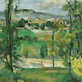 Village Behind Trees by Paul Cezanne