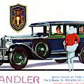 Vintage Advertisement For Chandler Motor Cars by Italian School
