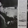 Vintage Alitalia Airline Advertisement by Mary Beth Welch