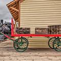 Vintage Baggage Cart by Lynn Sprowl