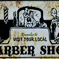 Vintage Barber Sign From The 1950s by Paul Ward