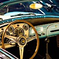 Vintage Blue Car by Top Wallpapers