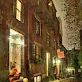 Vintage Boston - Acorn Street by Joann Vitali