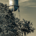 Vintage Bourbon Tower - Route 66 Sepia by Gregory Ballos