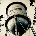 Vintage Bourbon Whiskey Water Tower In Sepia by Gregory Ballos