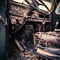 Vintage Car Interior Abandoned by Edward Fielding