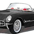 Vintage Chevrolet Corvette - Dwp3880434 by Dean Wittle