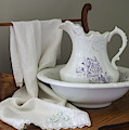 Vintage China Pitcher And Bowl by MM Anderson