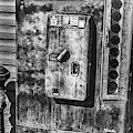 Vintage Coke Machine Black And White by David Millenheft