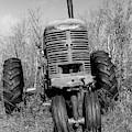 Vintage Farmall Tractor Springfield Nh Bw by Edward Fielding