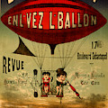Vintage Hot Air Balloon by Vintage Pix