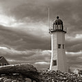 Vintage Image Of Scituate Lighthouse by Jeff Folger
