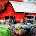 Vintage In The Pasture by Debra and Dave Vanderlaan
