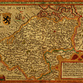 Vintage Map Of Belgium And Flanders by Design Turnpike