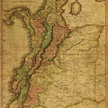 Vintage Map Of Columbia 1818 by Design Turnpike