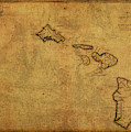 Vintage Map Of Hawaii 1837 by Design Turnpike