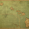 Vintage Map Of Hawaii by Design Turnpike