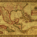 Vintage Map Of Mexico by Design Turnpike