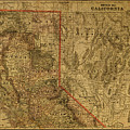 Vintage Map Of Northern California by Design Turnpike