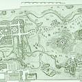 Vintage Map Of The Parc De Monceau, Paris by French School